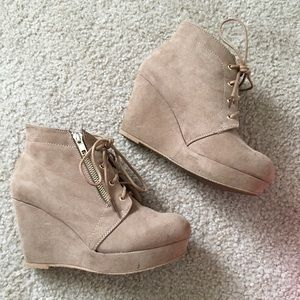 Nude Fall Booties